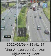 Caméra trafic Belgique - Anvers-Centre, R1 (Ring d'Anvers) direction Gand