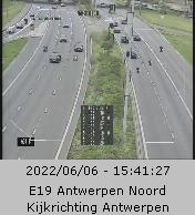 Caméra trafic Belgique - Anvers-Nord, R1 (Ring d'Anvers) direction Anvers