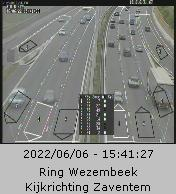 Caméra trafic Belgique - R0 (Ring de Bruxelles), Wezembeek-Oppem direction Waterloo