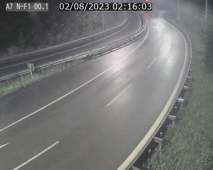 Webcam autoroute Luxembourg A7 située dans la sortie 1 Waldhof, vers la N11, avant le Tunnel Stafelter