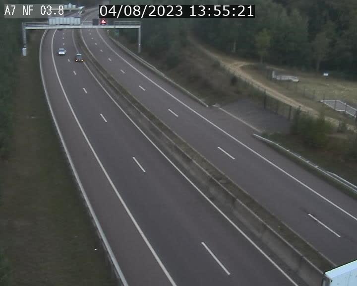 Webcam autoroute A7 au Luxembourg à la sortie du Tunnel Stafelter vers le Nord
