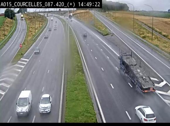 Webcam autoroute Belgique - Viesville - E42 direction Mons - BK 84.35