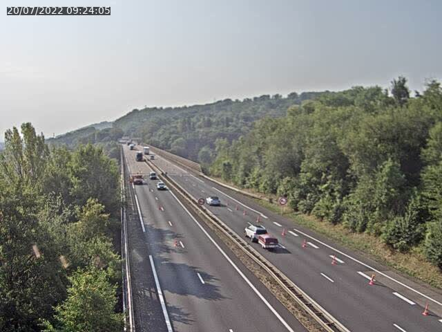 Caméra autoroute France - A30, Hayange direction Metz