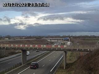 Caméra autoroute France - jonction A35/A4, Hoerdt direction Strasbourg