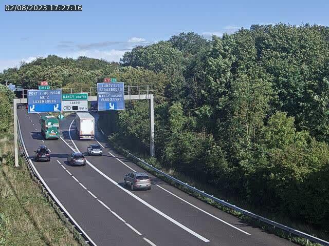 Caméra autoroute France - Biffurcation A31/A33, Laxou direction Nancy
