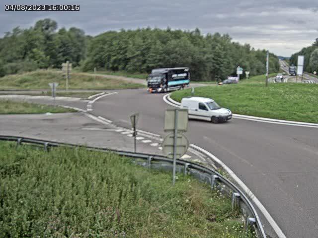 Caméra sur la N57 à la jonction avec la D64 à Saint-Sauveur, à proximité de Luxeuil-les-Bains