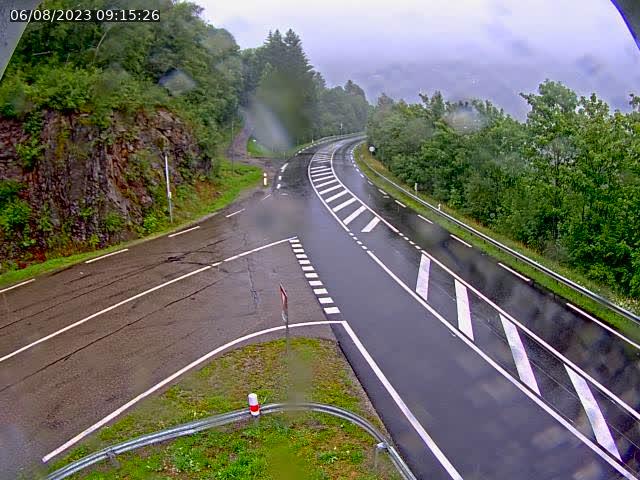 Caméra autoroute France - N66, col du Bussang direction Remiremont
