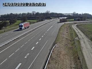 Webcam autoroute France - jonction A35 et D4 en venant de Karlsruhe ou Baden-Baden à Roppenheim, direction Strasbourg
