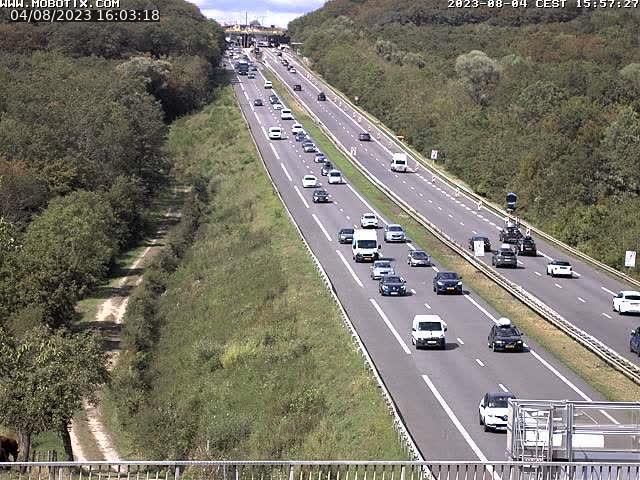 Caméra autoroute France - A31, Zoufftgen direction Luxembourg-ville, à la frontière entre la France et le Luxembourg