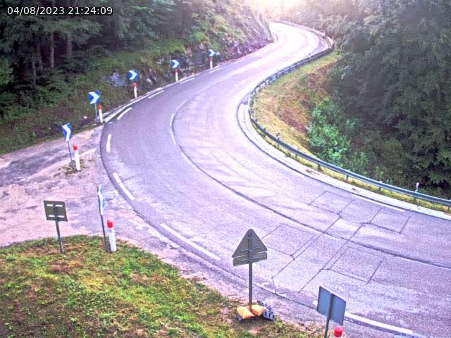 Webcam dans le Jura, sur la N5 dans la côte des Rousses à proximité de Morez