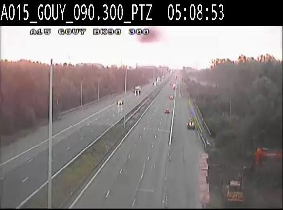 Webcam autoroute Belgique - Gouy-lez-piéton - E42 - BK 90.3