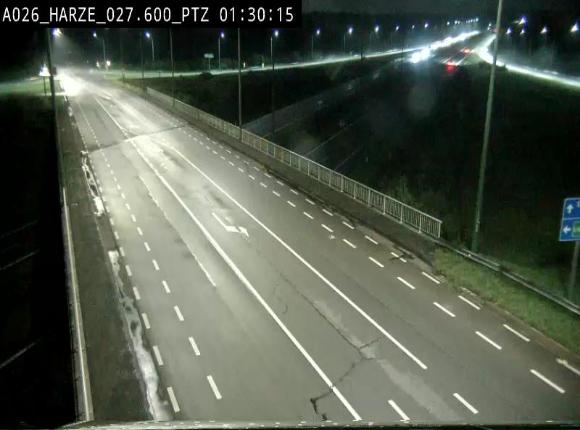 Caméra autoroute Belgique - Sougné-Remouchamps,E25 direction Luxembourg
