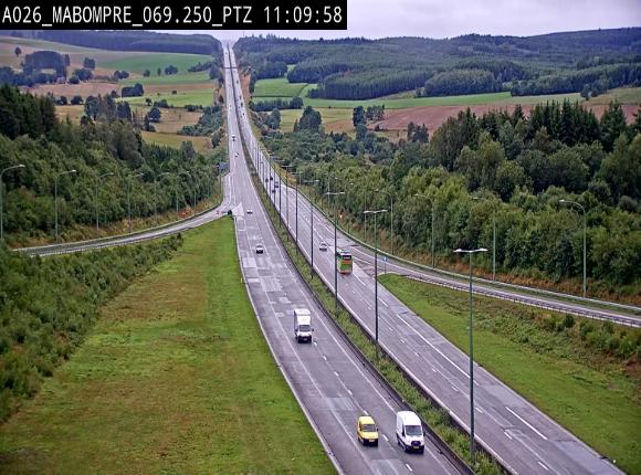 Webcam E25 (A26) à Mabompré. Vue orientée vers Liège
