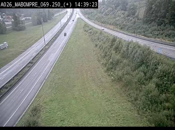 Webcam E25 (A26) à Mabompré. Vue orientée vers le Luxembourg
