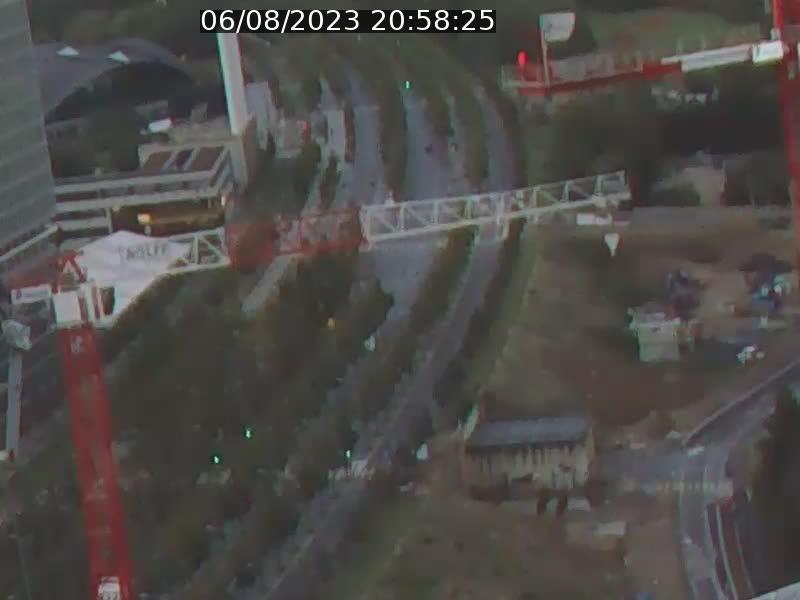 Webcam sur l'avenue John Fitzgerald Kennedy (N51) avec vue orientée vers le Findel