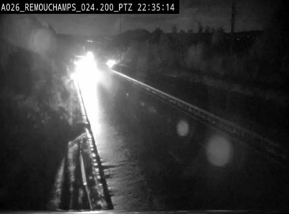 Webcam E25/A26 à Aywalle, à hauteur de Spa. Vue orientée vers Liège
