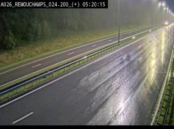Webcam à hauteur de Spa entre la sortie Remouchamps et la sortie Stavelot. Vue orientée vers les Ardennes