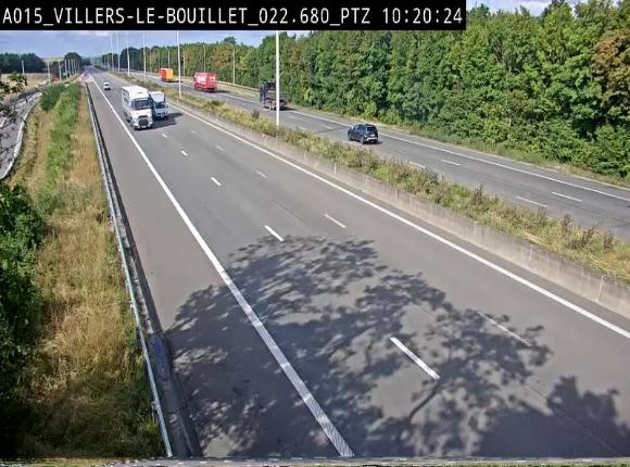 Webcam autoroute Belgique - Villers-le-Bouillet - E42 direction Liège - BK 18.7